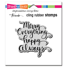 Stampendous - Merry Always Cling Stamp