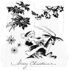 SA - TH Christmas Time Cling Stamp