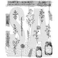 SA - TH Flower Jar Cling Stamp
