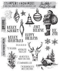 SA - TH Holiday Drawings Cling Stamp