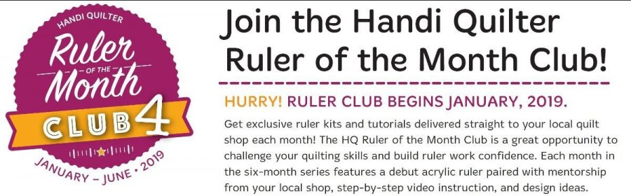 Handi Quilter Ruler of the Month Club 4
