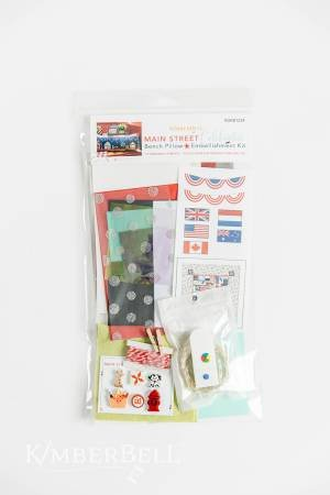 Kimberbell Bench Pillow Main Street Celebration Embellishment Kit