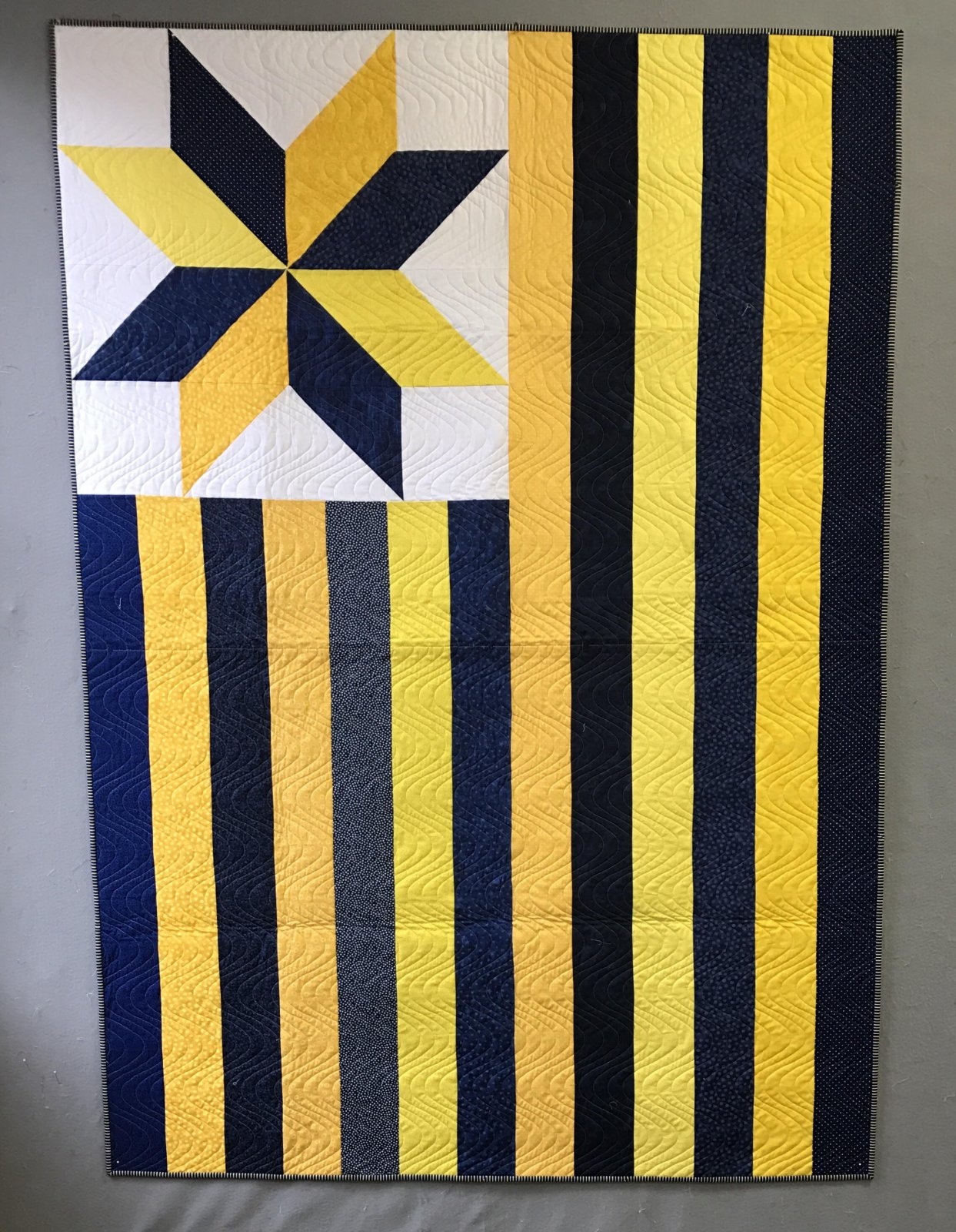 Flag - Blue & Gold