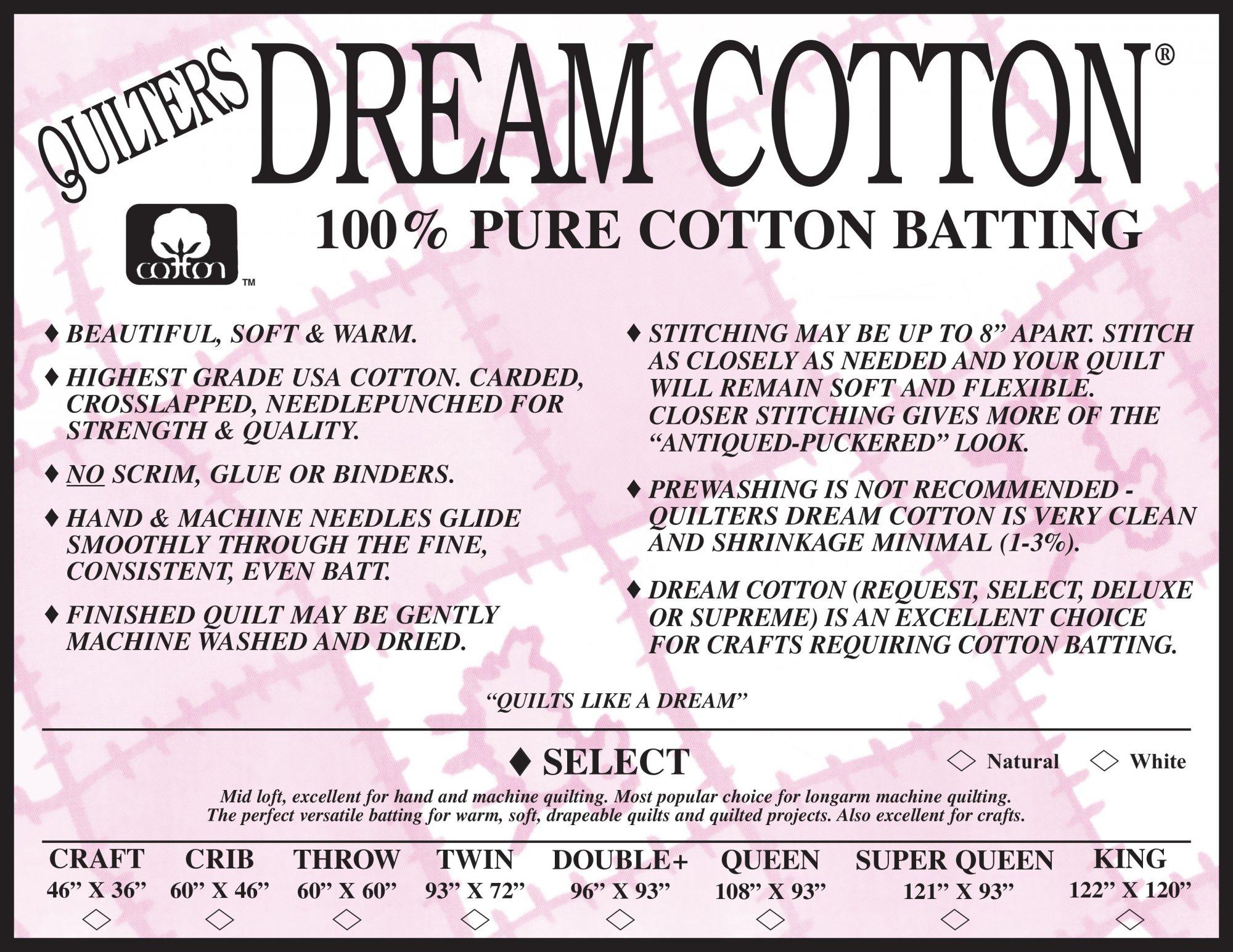 Natural Select Crib Batting