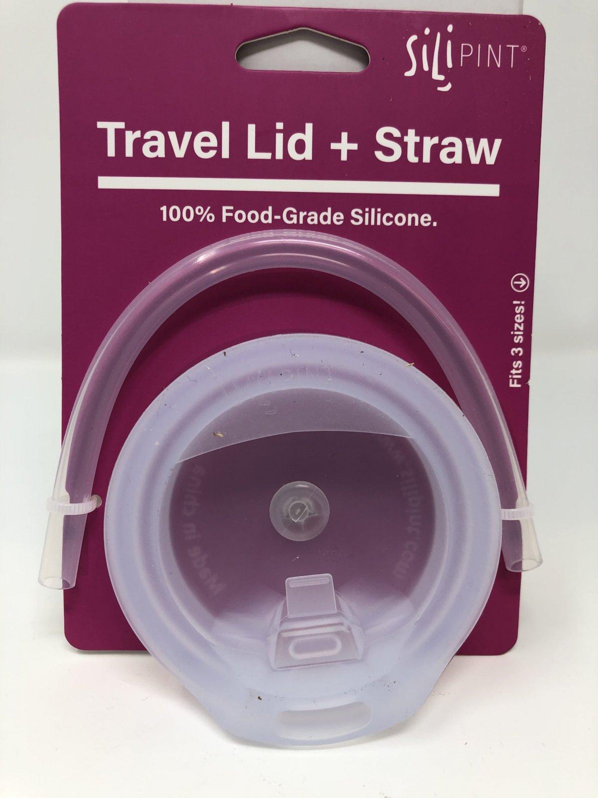 Silipint 8 oz Lid & Straw Pack