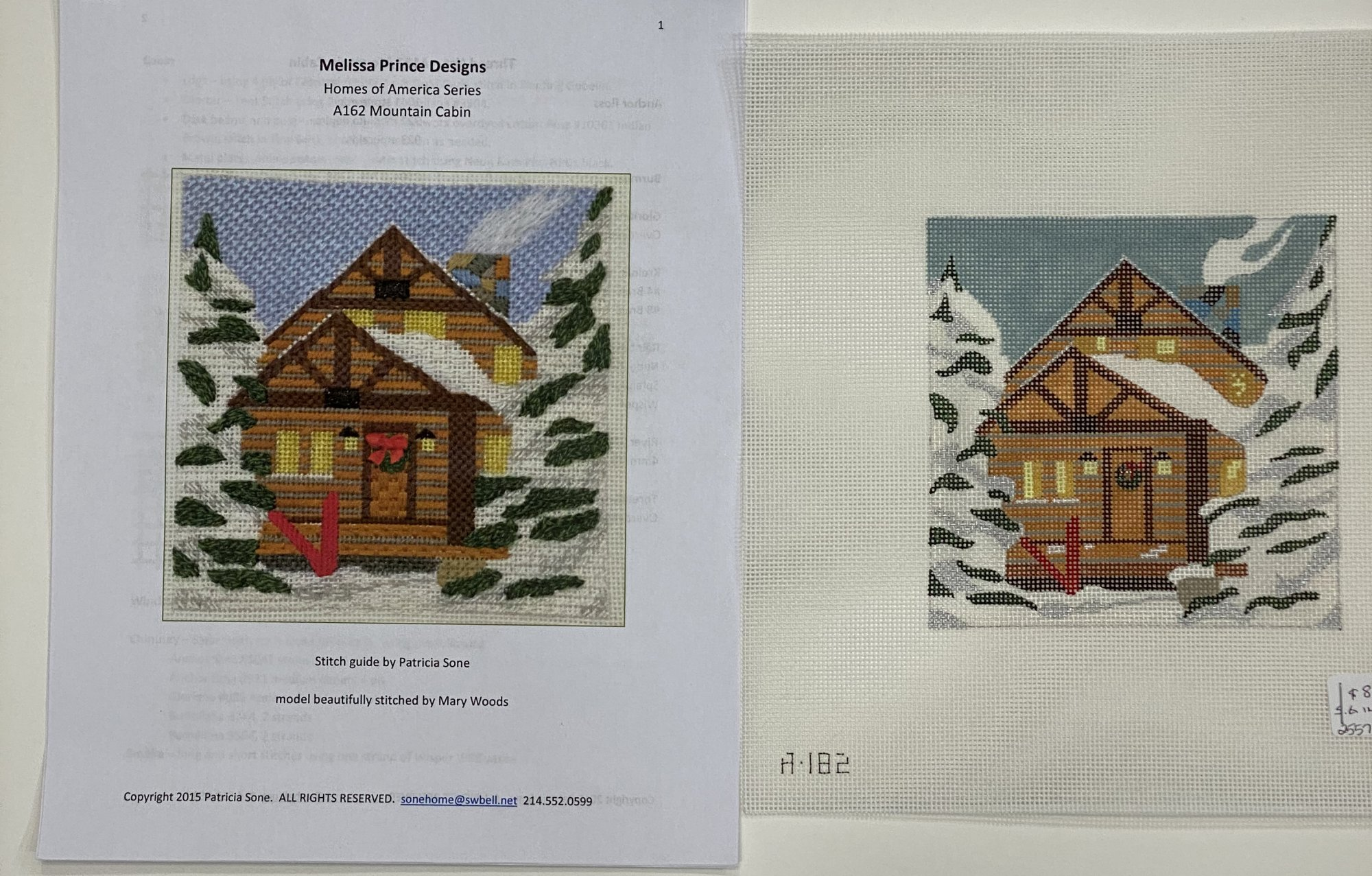 Mountain Cabin with Stitch Guide