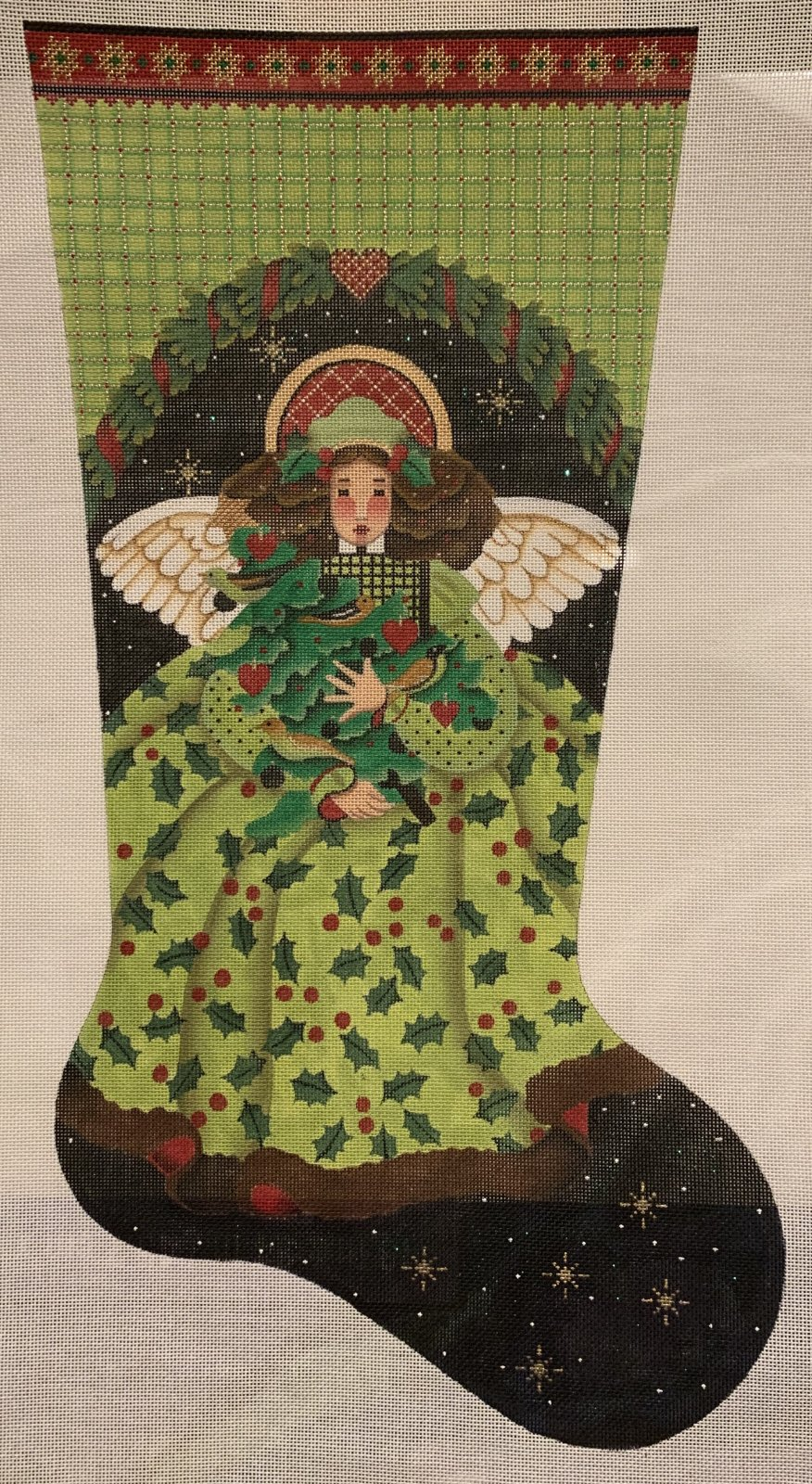 Melissa Shirley Stocking Angel in Green Dress