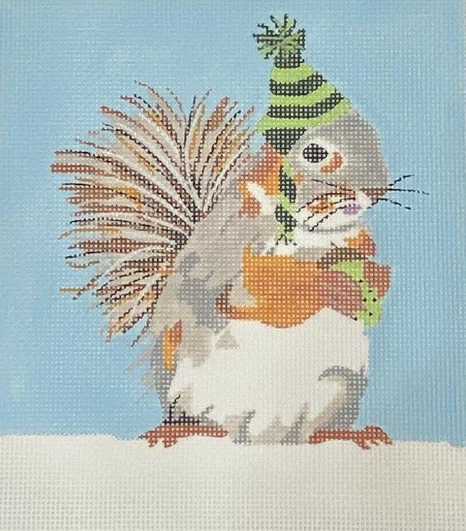 Squirrel In Knit Hat