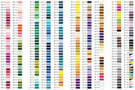 Floriani thread chart