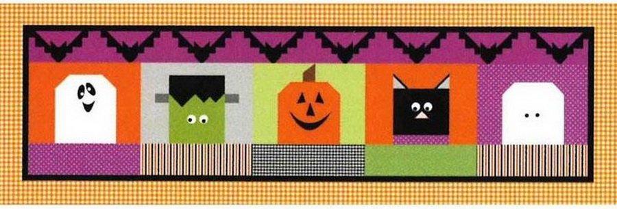 Riley Blake Halloween Blockheads runner month kit