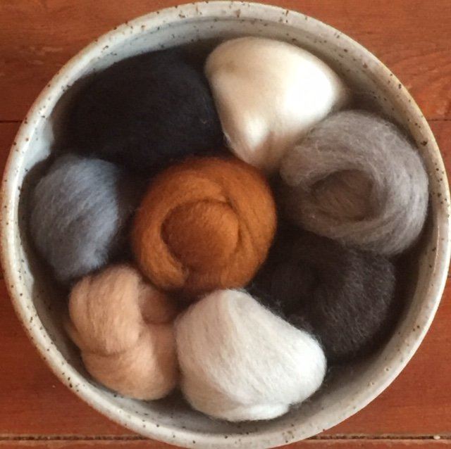 Wistyria Wool Roving - Furry Friends