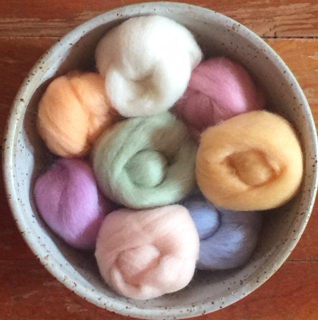 Wistyria Wool Roving - Pastels