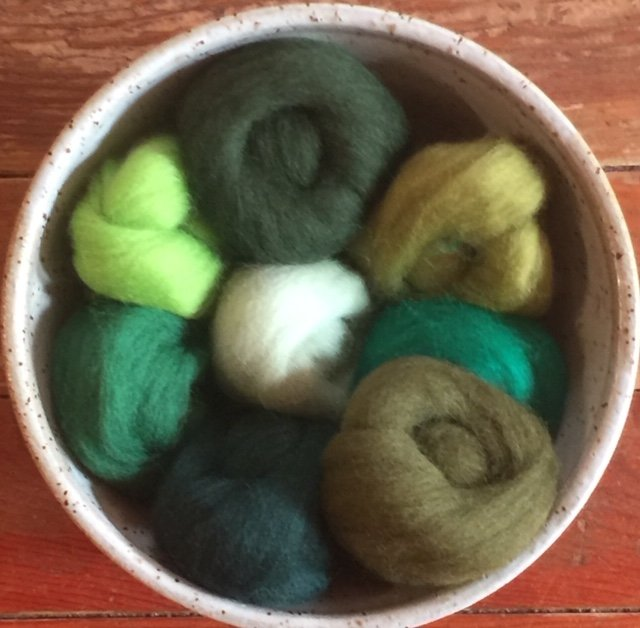 Wistyria Wool Roving - Jungle