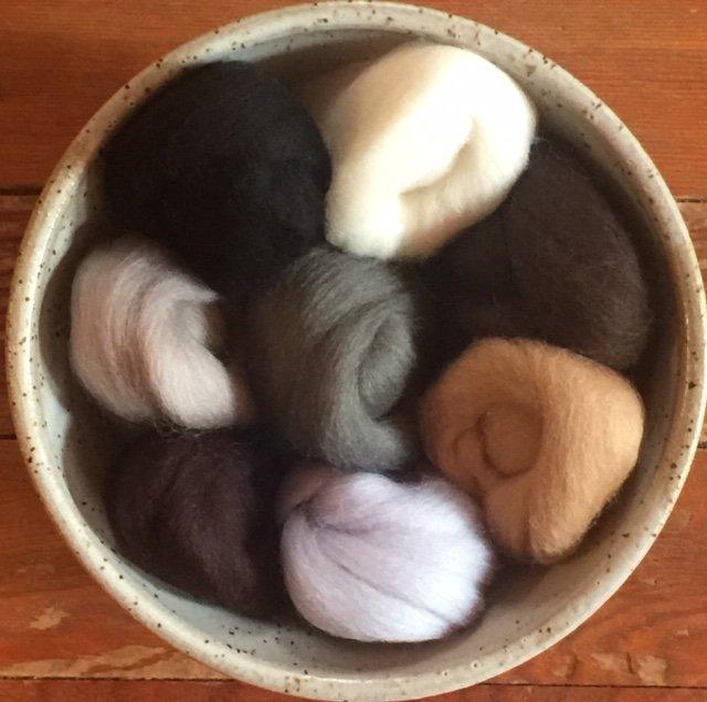 Wistyria Wool Roving - Neutrals