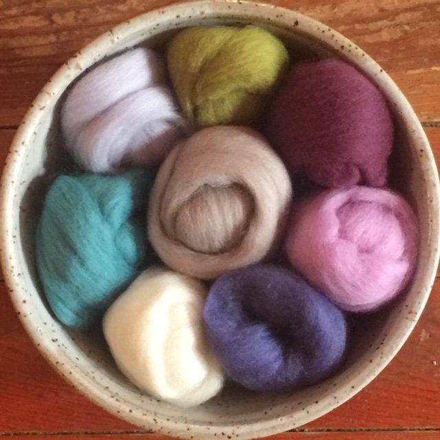 Wistyria Wool Roving - Tranquility