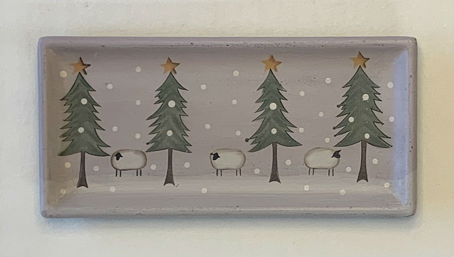 Winter Sheep Tray