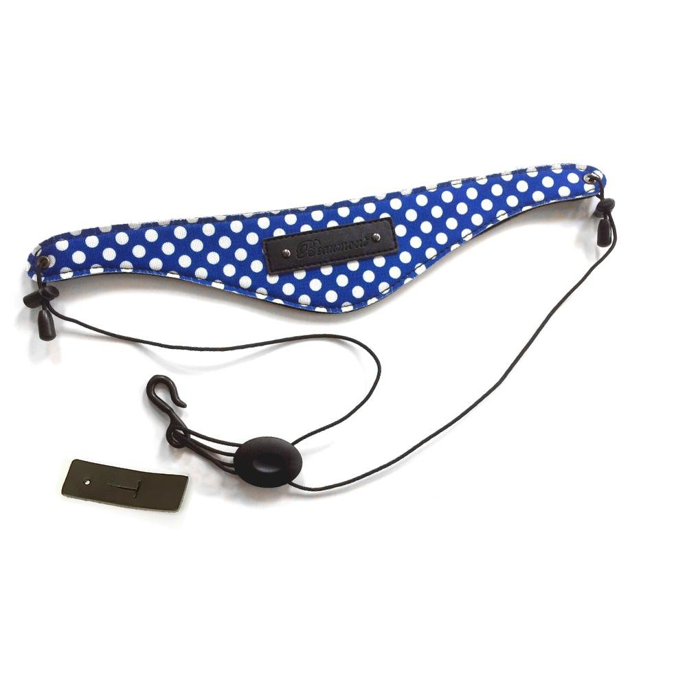 Blue Polka Dot Bb Clarinet and Oboe Strap