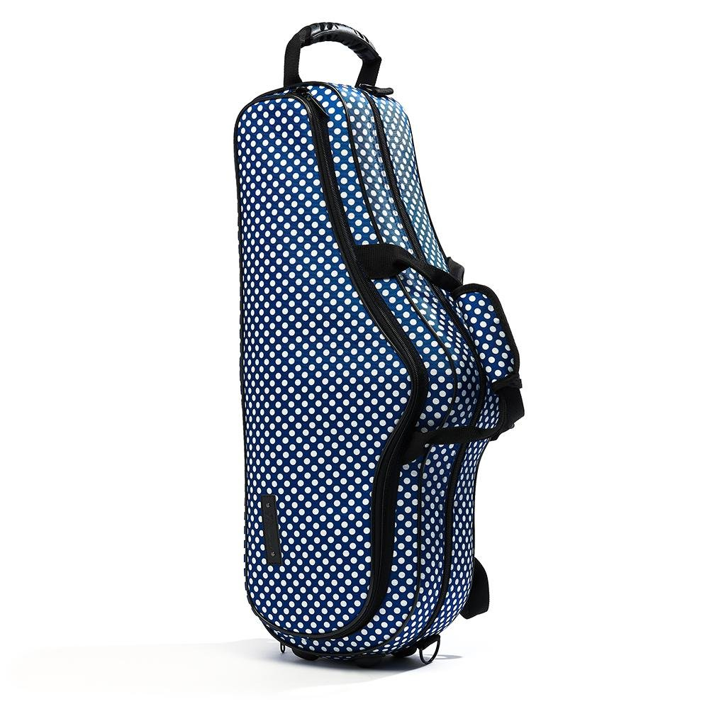 Blue Polka Dot Alto Sax Case