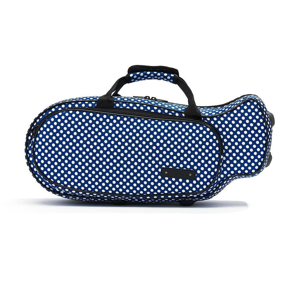 Blue Polka Dot Trumpet Case