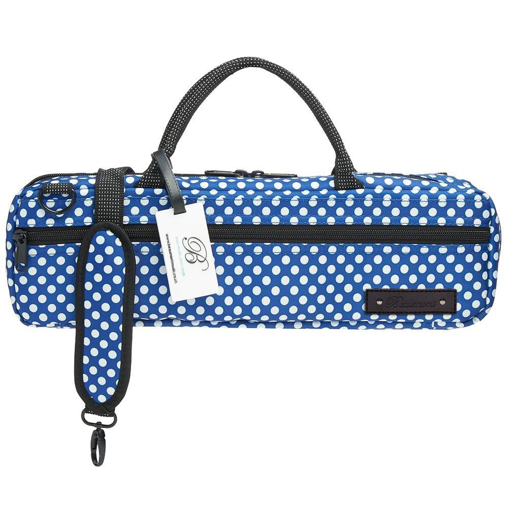 Blue Polka Dot Flute Bag
