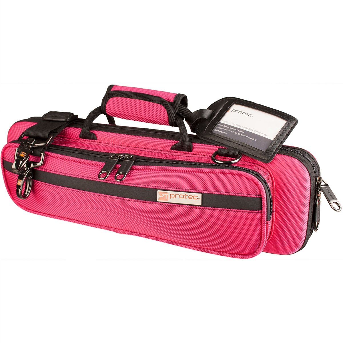 Flute PRO PAC Case - Slimline (Hot Pink)