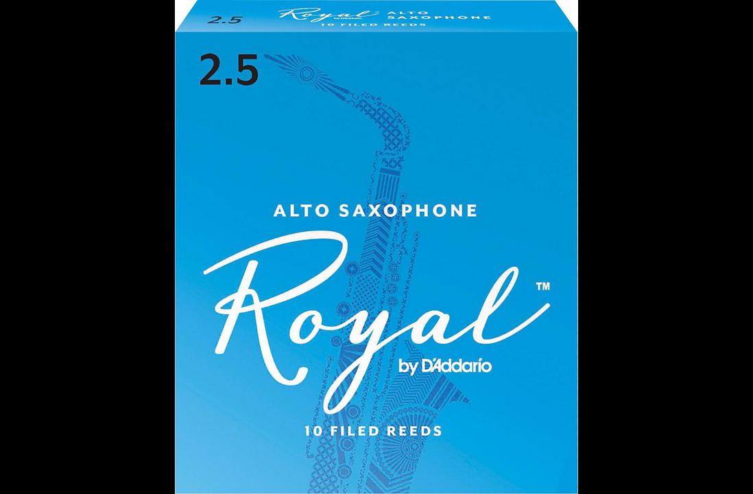 Rico Royal Alto Sax Reeds Strength 2.5, 10 pack