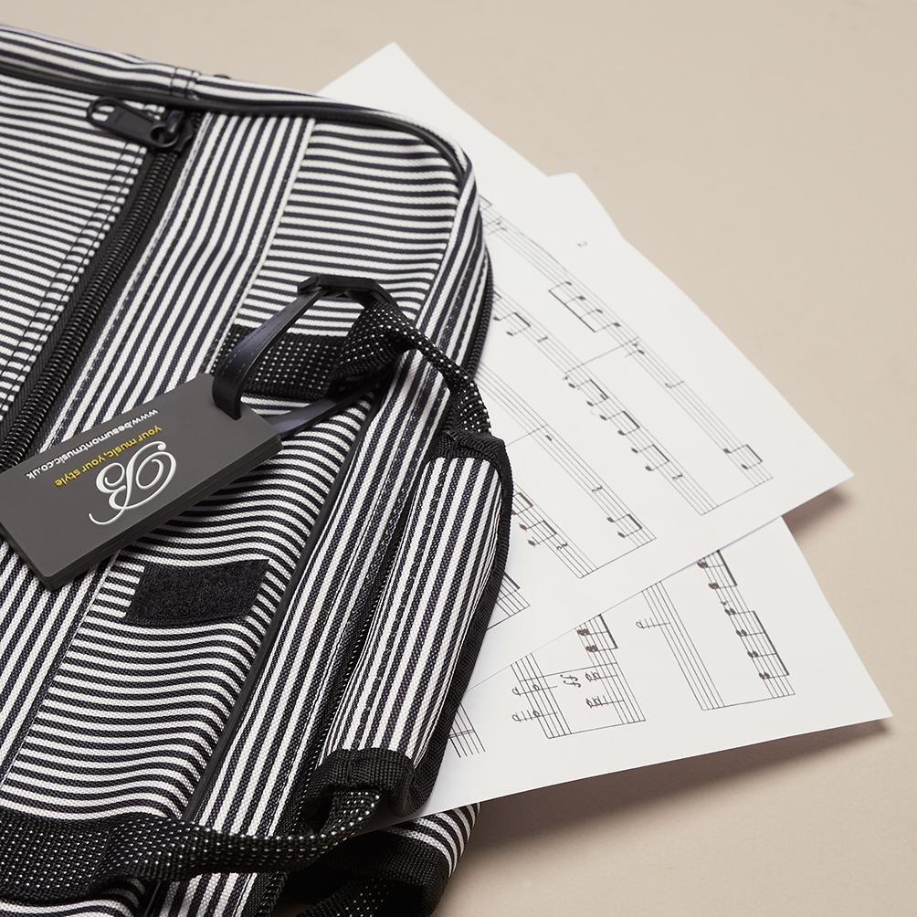 Pinstripe Sheet Music Bag