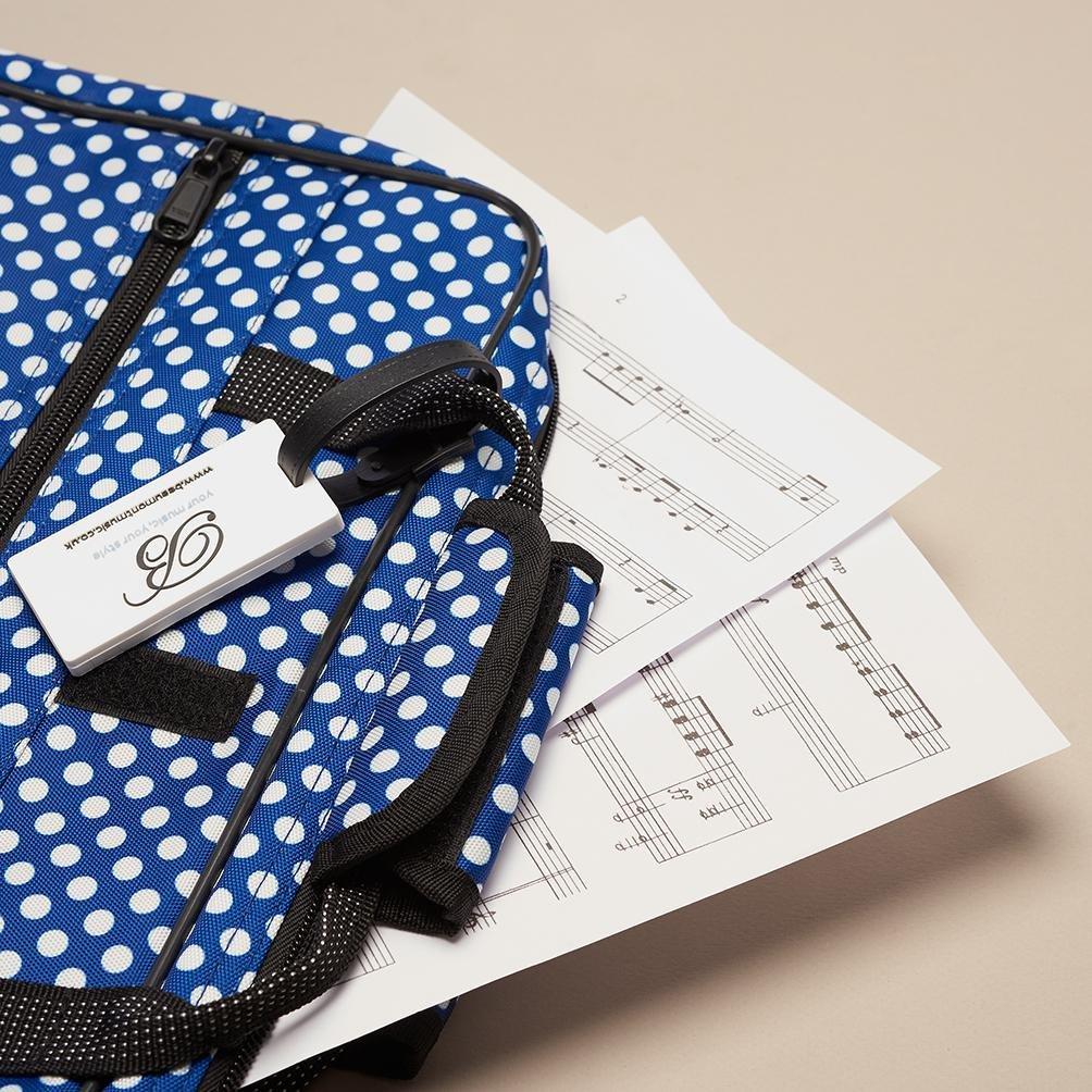 Blue Polka Dot Sheet Music Bag