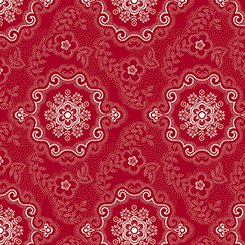 Colebrook Large Medallion Red Fabric Yardage 26012-R | Ann's By Design
