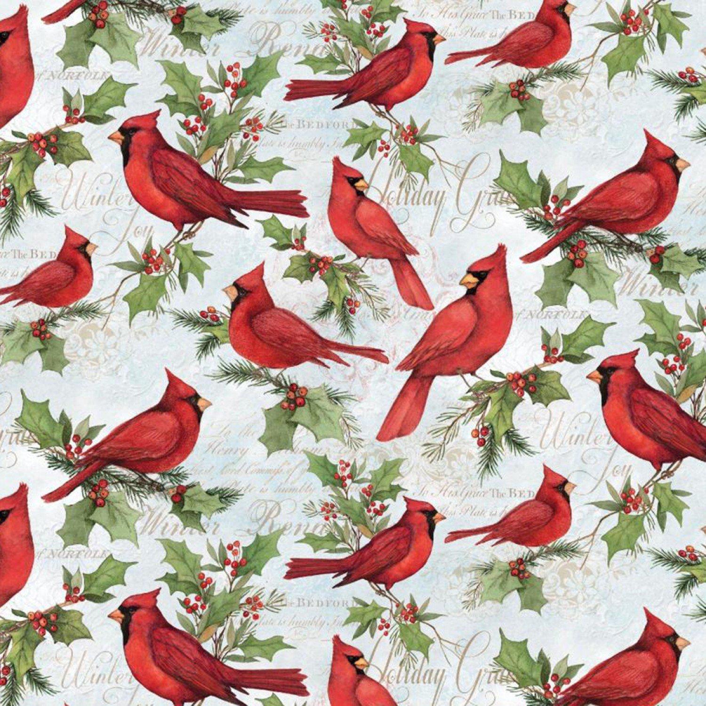 Christmas Cardinal Fabric Yardage 17348