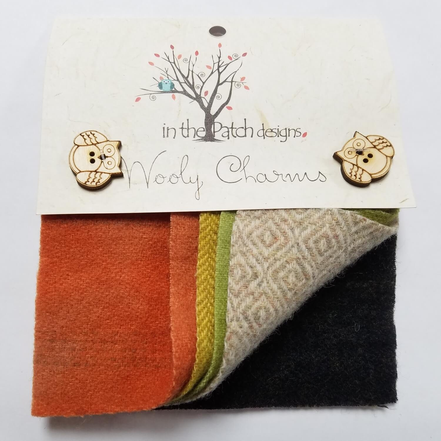 In The Patch Designs Wooly Charms 5in x 5in Fall Leaves - 5ct | Ann's By Design