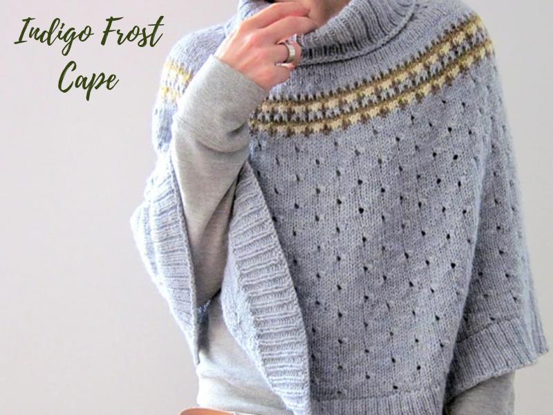 Indigo Frost Cape | Ann's By Design