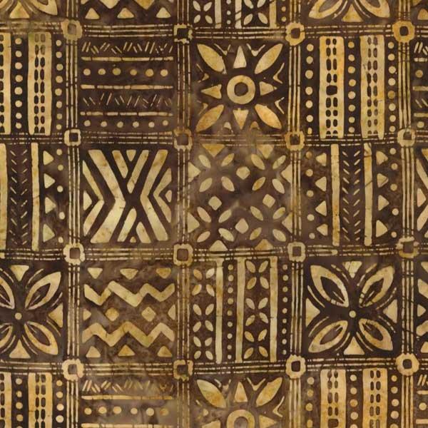 Artisan Batiks Totally Tropical Bamboo Tile Mud Cloth Fabric Yardage AMD-16117-309