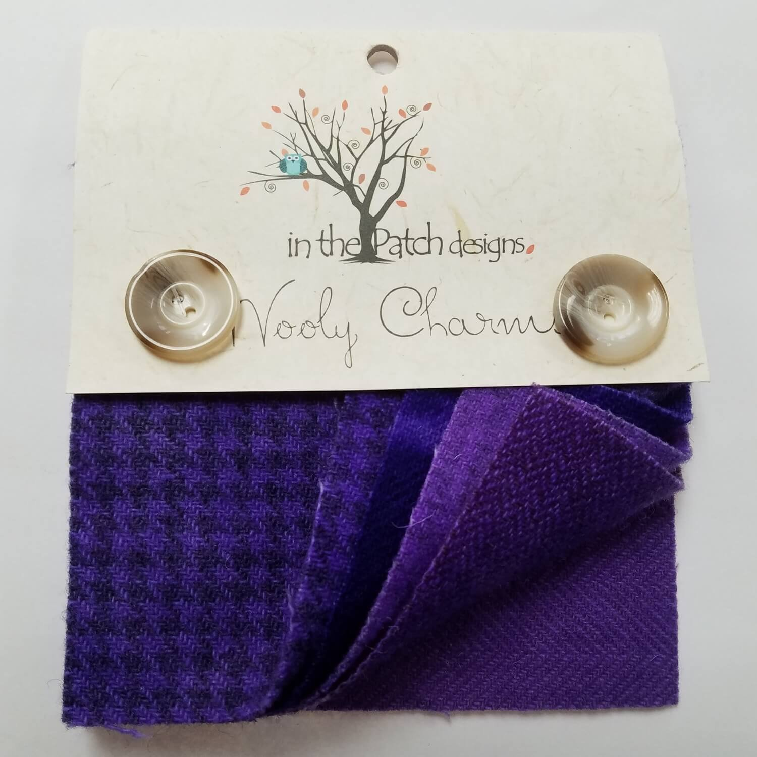 In The Patch Designs Wooly Charms 5in x 5in Lavendar - 5ct