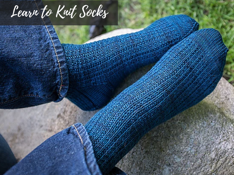 Learn to Knit Socks: Petty Harbour | Ann's By Design