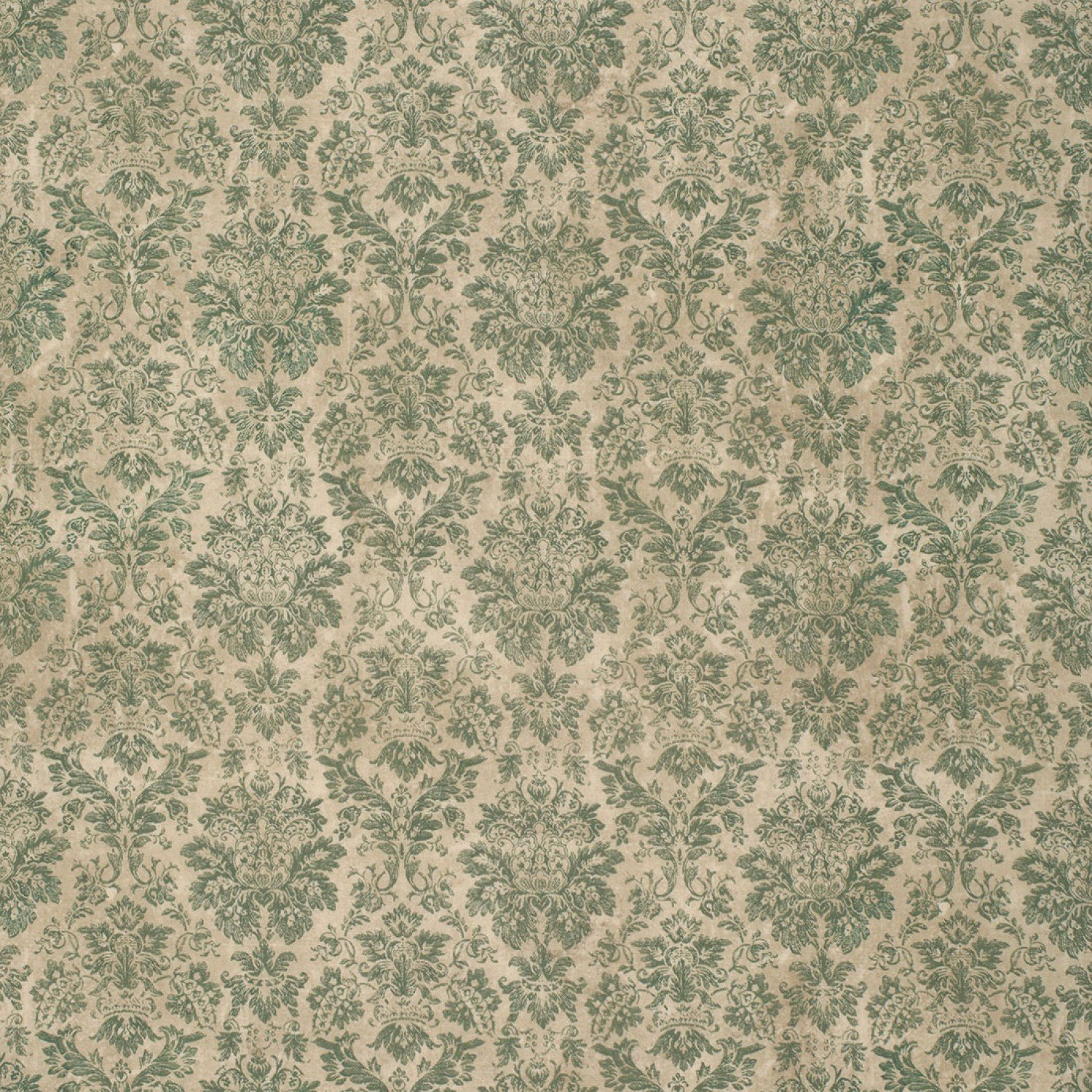 Eclectic Elements Wallflower Faded Damask Teal Fabric Yardage PWTH029.8TEAL