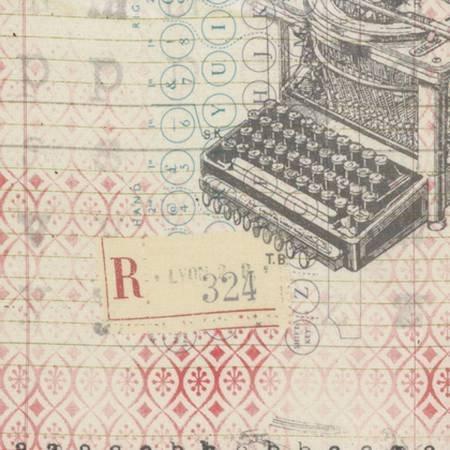 Eclectic Elements Correspondence Typo Neutral Fabric Yardage PWTH044.8NEU