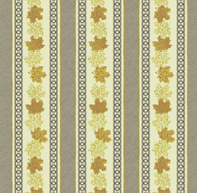 Maple Stories Ribbons Ivory Fabric Yardage QT1304-30