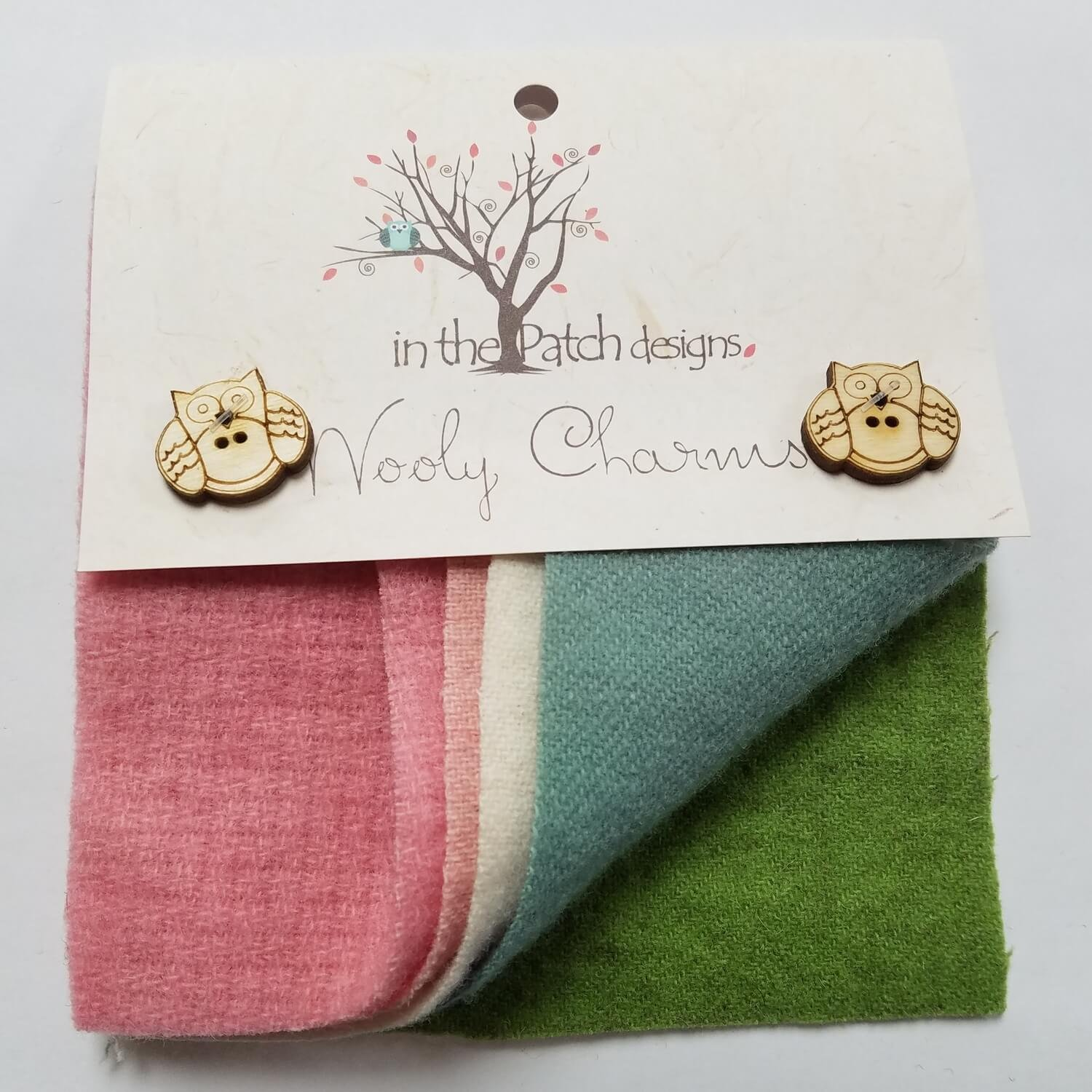 In The Patch Designs Wooly Charms 5in x 5in Spring Thyme - 5ct