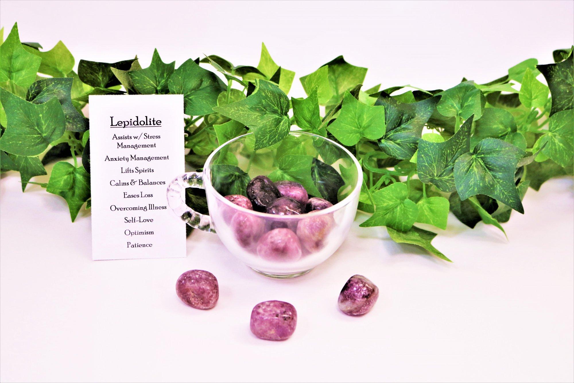 Lepidolite - Tumbled -$5