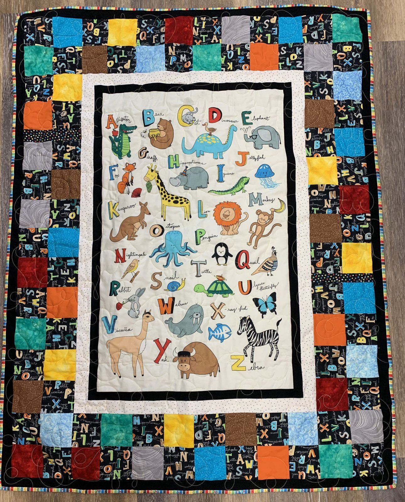 Alpha Zoo Quilt Kit