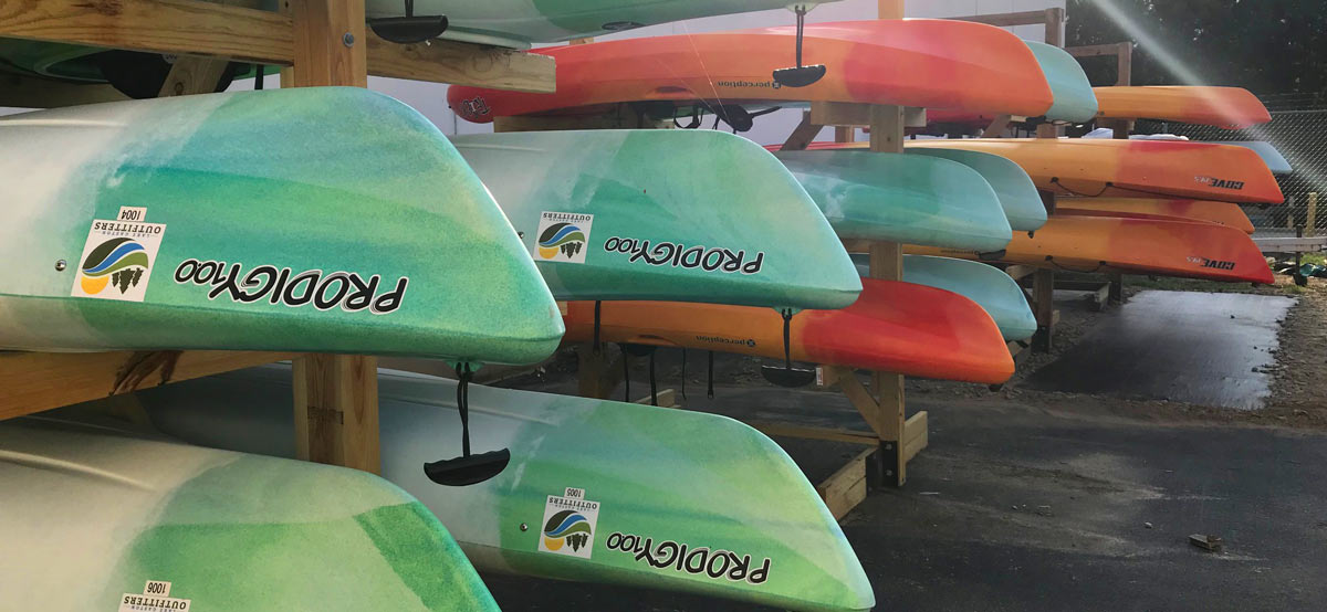 rental kayaks and paddle boards at lake gaston outfitters