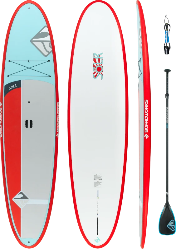 Boardworks - Solr 11'6 - All-Around SUP with Paddle & Leash (Red/White)