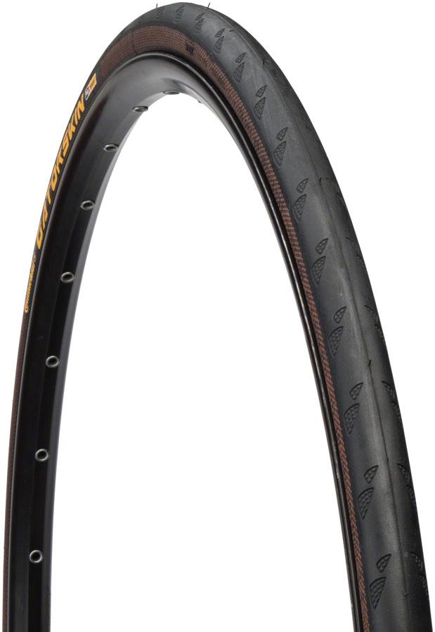 Continental - Gatorskin Tire 700 x 25, Clincher, Wire, Black, 180tpi