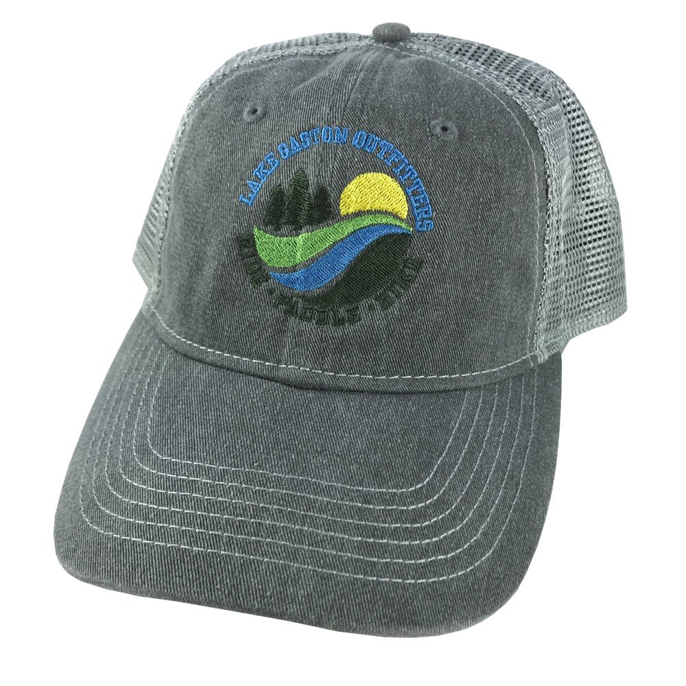 Lake Gaston Outfitters - Scout Trucker Hat Dark Gray