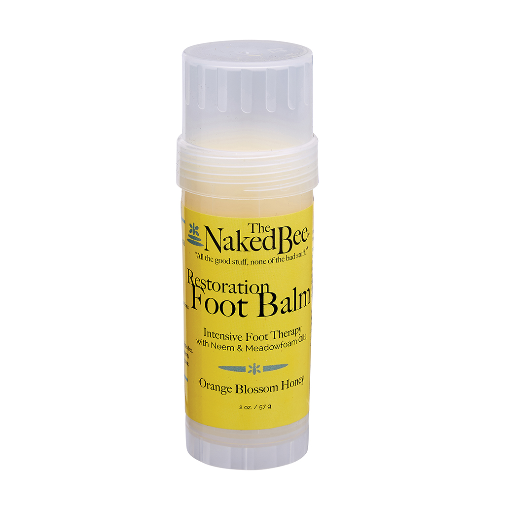 The Naked Bee Restoration Foot Balm Orange Blosson Honey