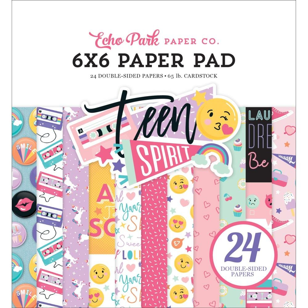 Echo Park Double-Sided Paper Pad 6X6 24/Pkg