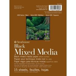 Strathmore 400 Series Mixed Media Pad - Black 6X8