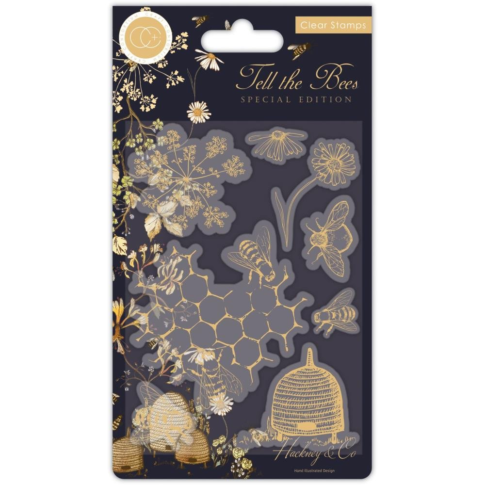 Craft Consortium A5 Clear Stamps-Tell The Bees - Special Edition