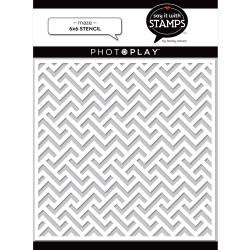 PhotoPlay Say It With Stamps Stencil 6X6-Maze